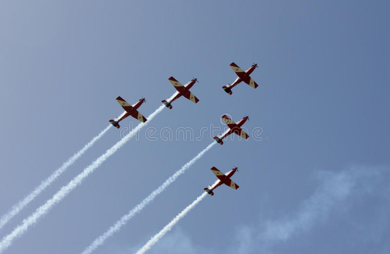 Rulettes. The Roulettes Flying in Formation over the Australian Grand Prix stock photography