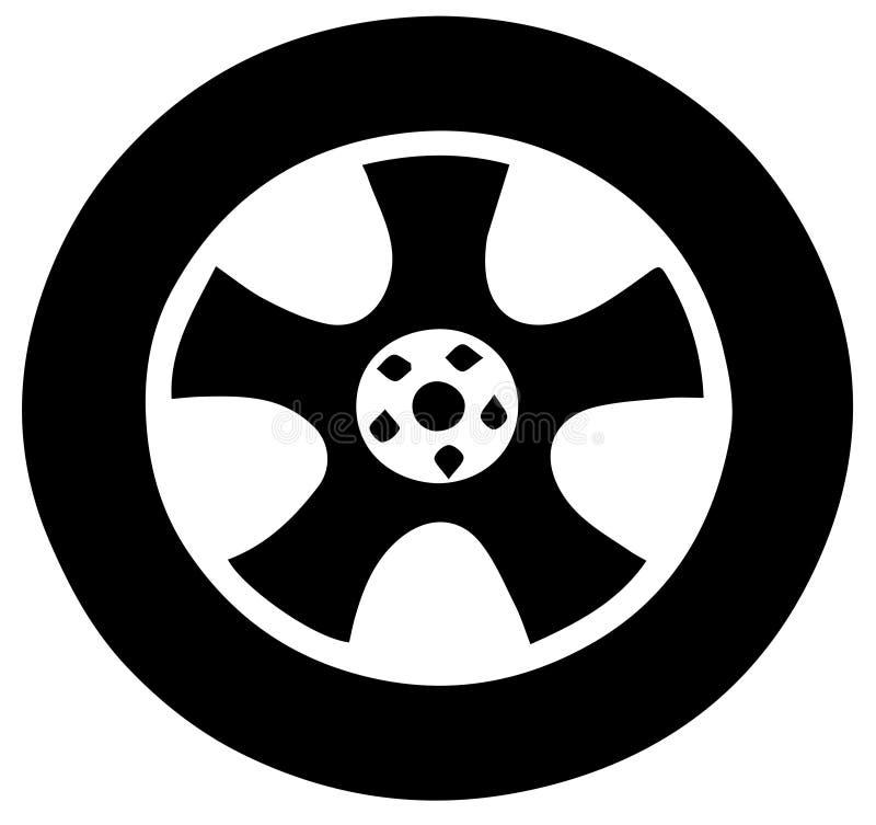 Rulla av bilen stock illustrationer