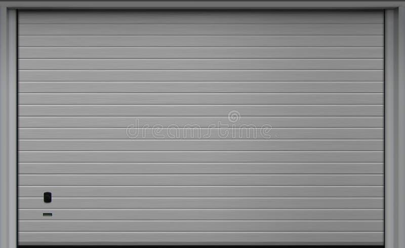 Rulla upp garagedörrportar, texturillustration royaltyfria bilder