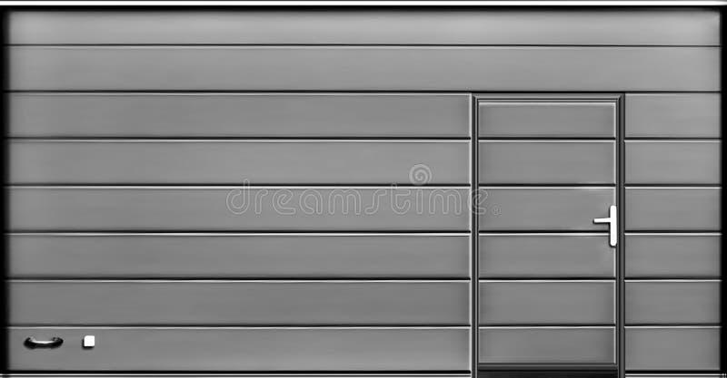 Rulla upp garagedörrportar, texturillustration royaltyfri foto