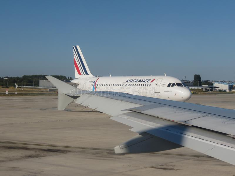 Rullaggio di Air France Airbus A319 fotografie stock