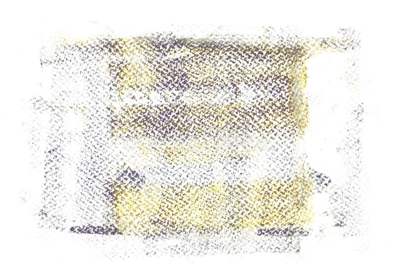 Rullande akrylmålarfärg på vit akvarellpappersbakgrund vektor illustrationer