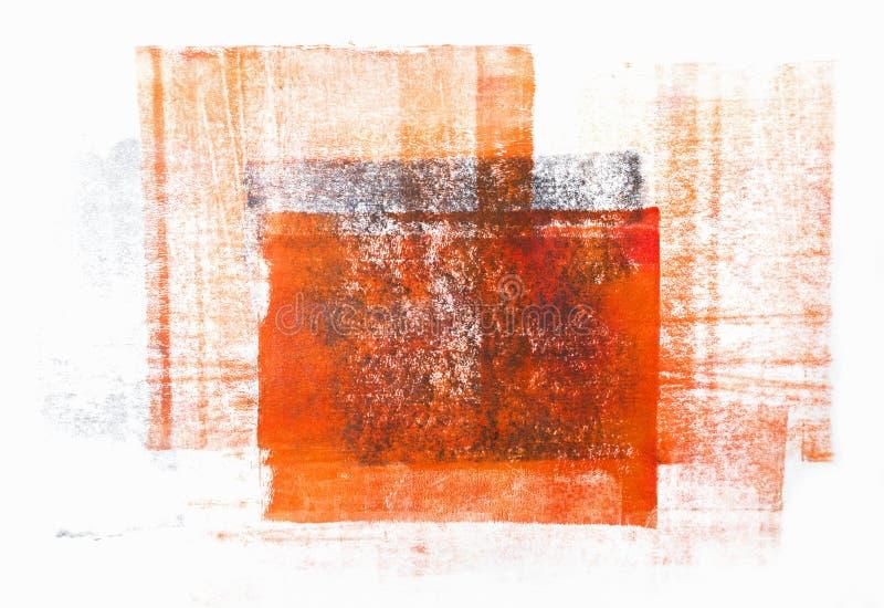 Rullande akrylmålarfärg som isoleras på vit bakgrund stock illustrationer