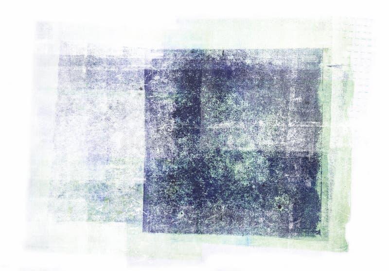 Rullande akrylmålarfärg som isoleras på vit bakgrund royaltyfri fotografi