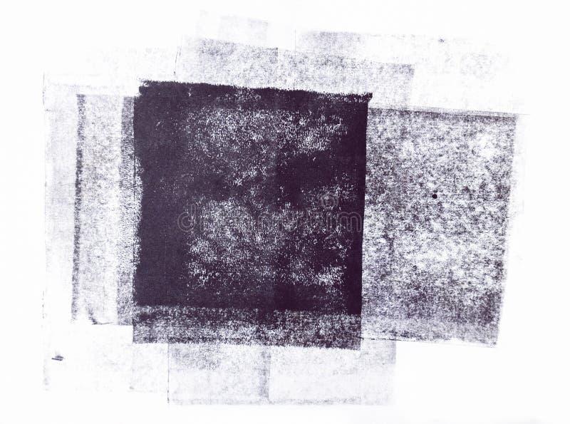 Rullande akrylmålarfärg som isoleras på vit bakgrund royaltyfri bild