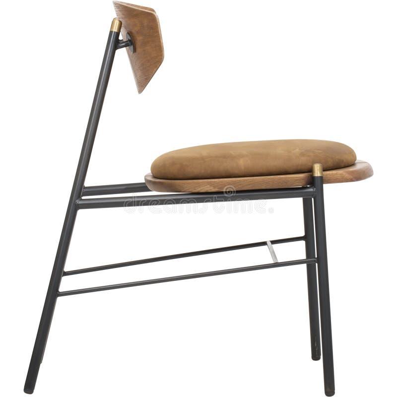 Rullande bästa klubbastol för brun uppehälle royaltyfria bilder