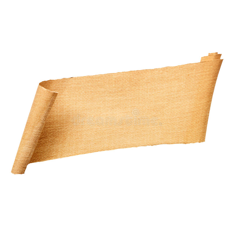 rullande blankt papper för baner royaltyfria foton