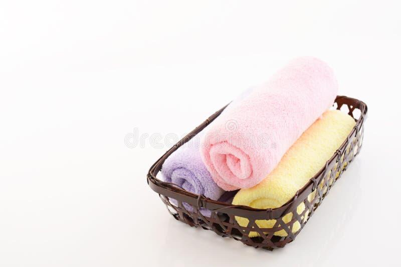 rullande handdukar upp royaltyfri foto
