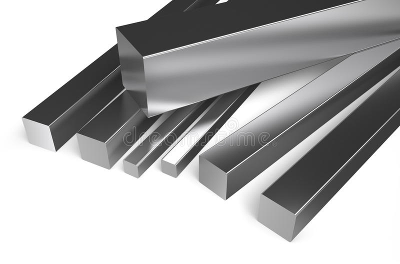 Rullande metall, fyrkantigt materiel 2 vektor illustrationer