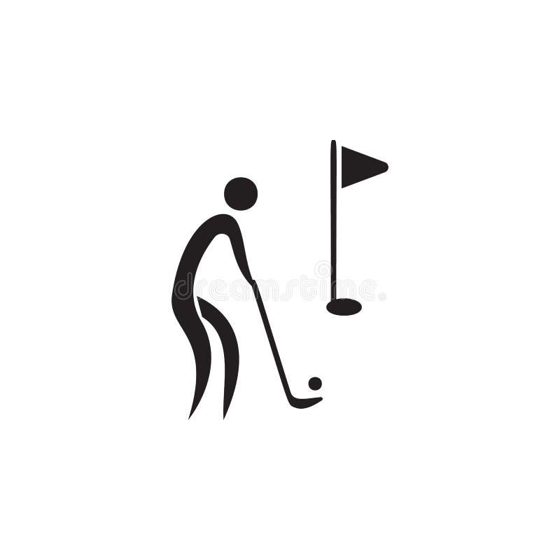 rullande symbol för golfboll Beståndsdelar av idrottsmansymbolen Högvärdig kvalitets- symbol för grafisk design Tecken och symbol royaltyfri illustrationer