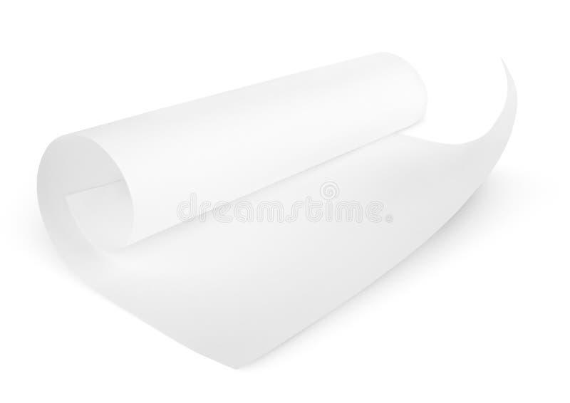 Rullande tomt ark av papper arkivfoton
