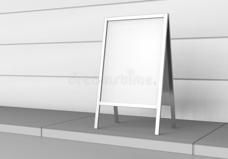Rullar den tomma tomma affären för vit upp och åtlöje för Standeebanerskärm upp mallen för din designpresentation 3D r stock illustrationer