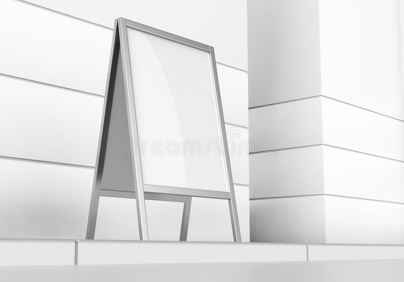 Rullar den tomma tomma affären för vit upp och åtlöje för Standeebanerskärm upp mallen för din designpresentation 3D r vektor illustrationer