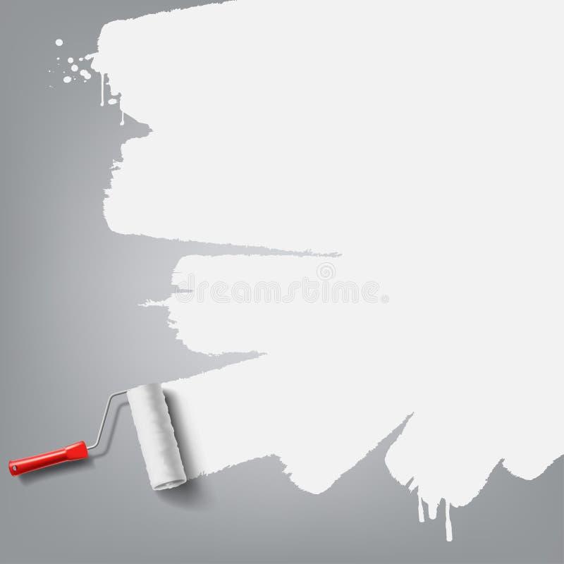 Rullborstebakgrund stock illustrationer