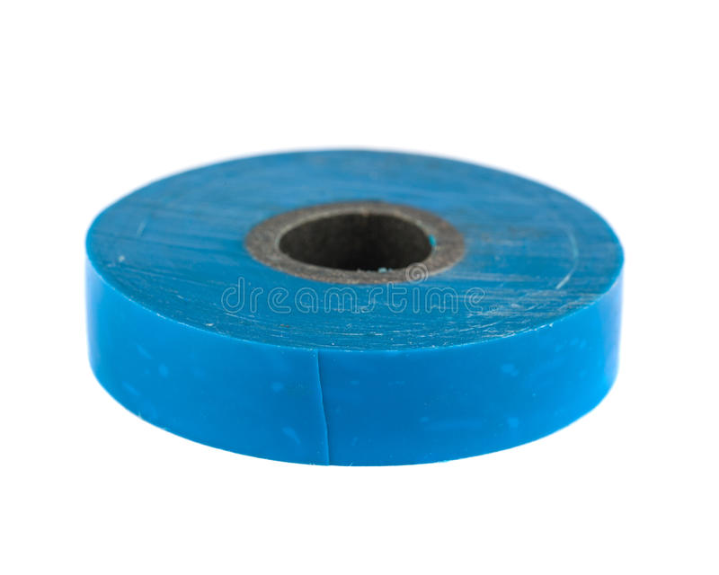 Rulle av det blåa isolera bandet arkivbild