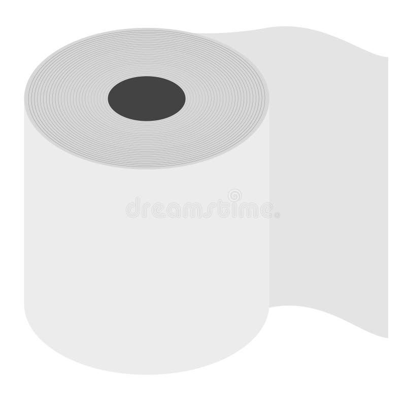 Rulle av isometricsen för toalettpapper pappers- produkt som används i sanitära och hygieniska avsikter vektor illustrationer