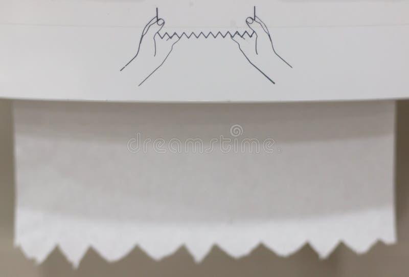Rulle av papperssilkespappret royaltyfri fotografi