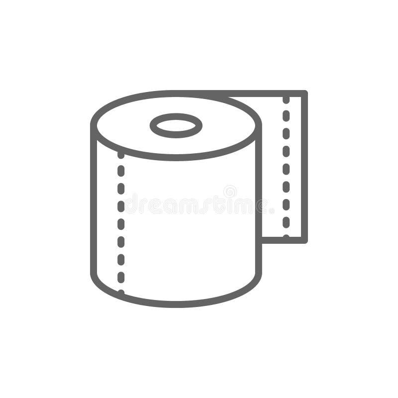 Rulle av toalettpapper, servetter fodrar symbolen royaltyfri illustrationer
