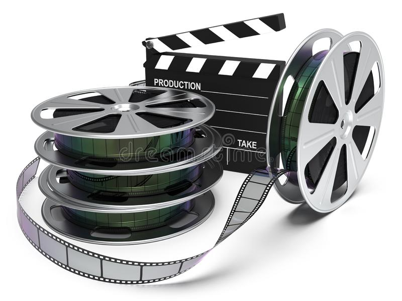 Rulle för biounderhållningfilm royaltyfria foton