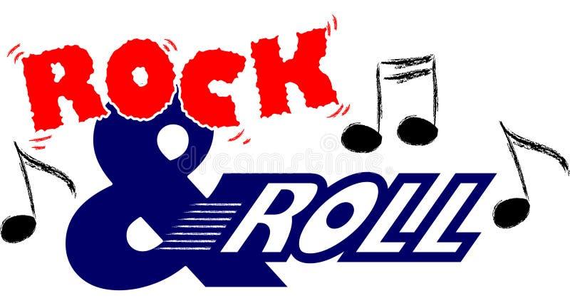 rulle för eps-musikrock stock illustrationer