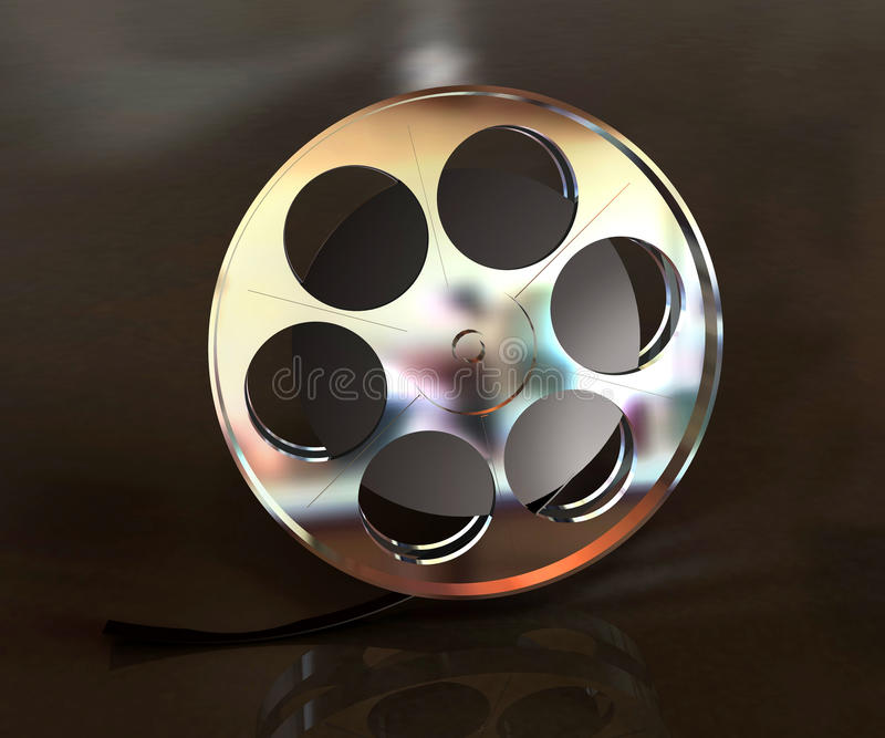 rulle för metallfilmobjekt stock illustrationer