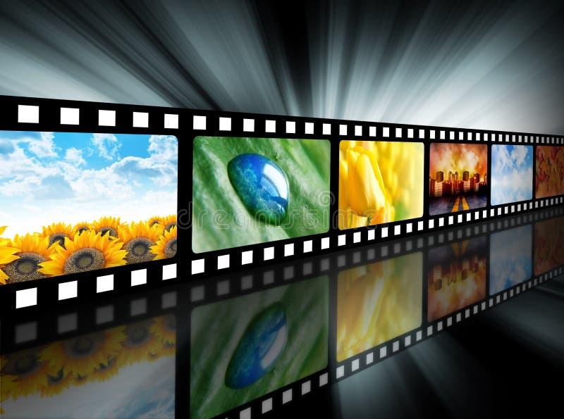 rulle för underhållningfilmfilm royaltyfri illustrationer