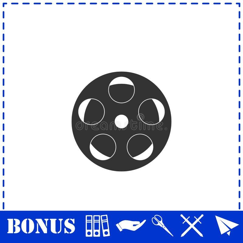Rullfilmsymbol framl?nges royaltyfri illustrationer