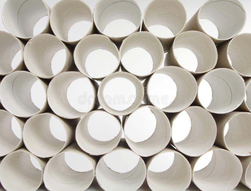 Rulli della carta igienica fotografie stock libere da diritti