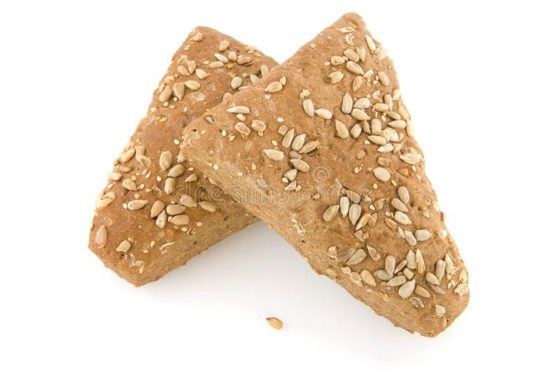 Rulli di pane marrone sani fotografie stock libere da diritti