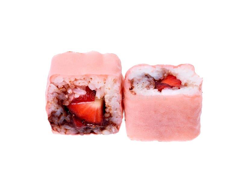 Rulli di sushi dolci fotografia stock libera da diritti