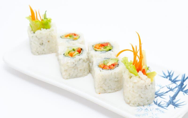 Rulli di sushi vegetariani fotografia stock