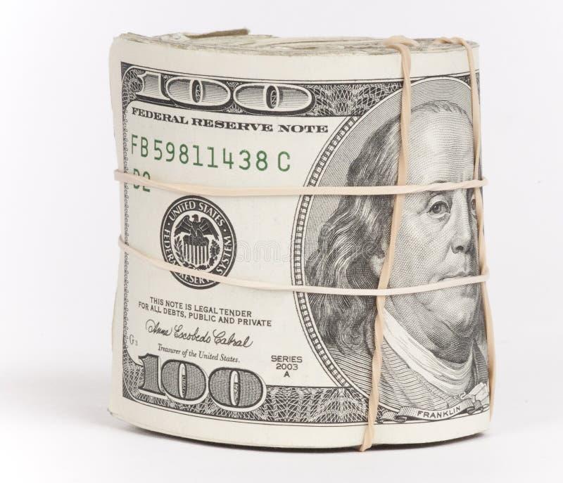 Rullo dei soldi fotografie stock