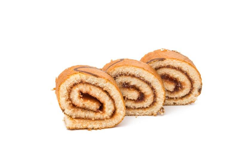 Rullo del biscotto con il riempimento fotografie stock libere da diritti