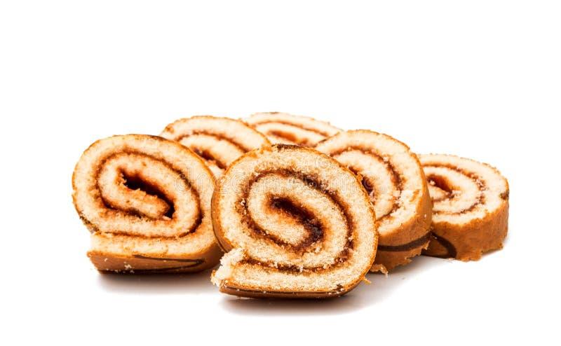 Rullo del biscotto con il riempimento fotografia stock