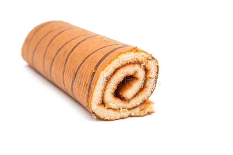 Rullo del biscotto con il riempimento immagine stock