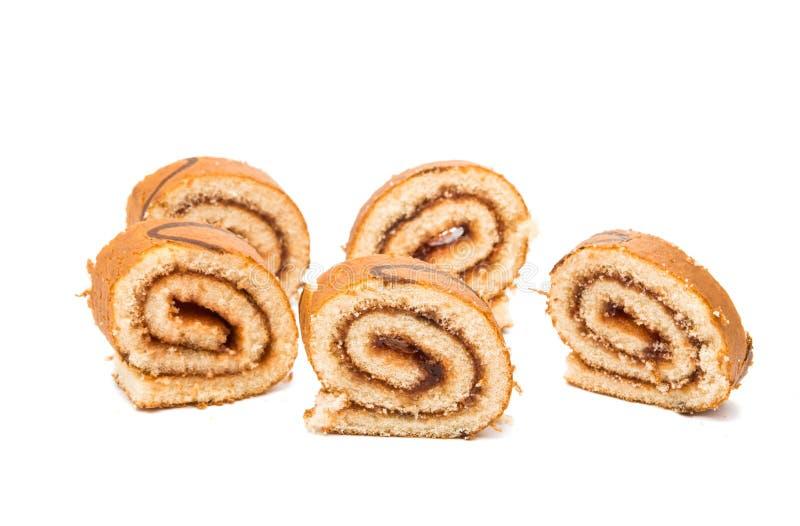 Rullo del biscotto con il riempimento fotografia stock libera da diritti