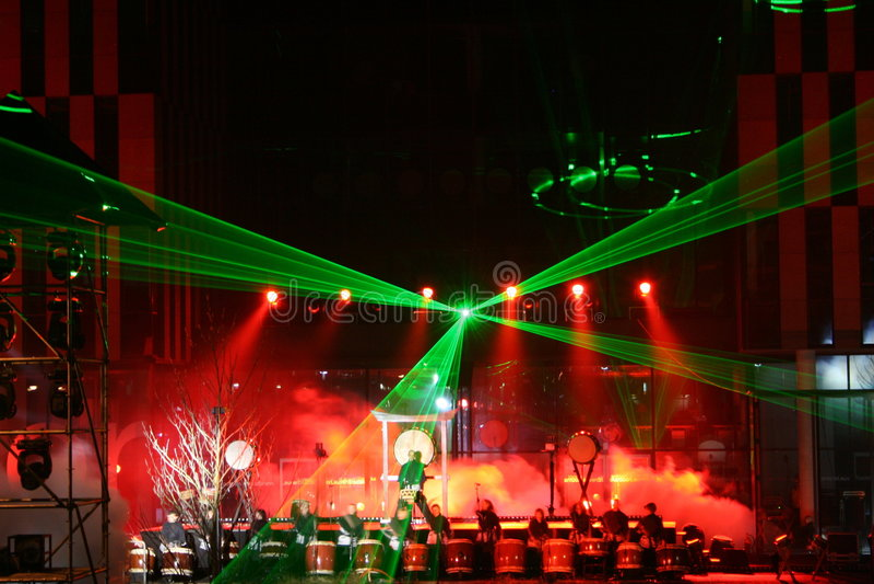 Rullo del tamburo del laser immagini stock libere da diritti