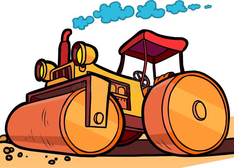 Rullo dell'asfalto dell'illustrazione del fumetto illustrazione di stock