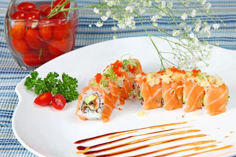 Rullo di sushi speciale del cuoco unico fotografia stock