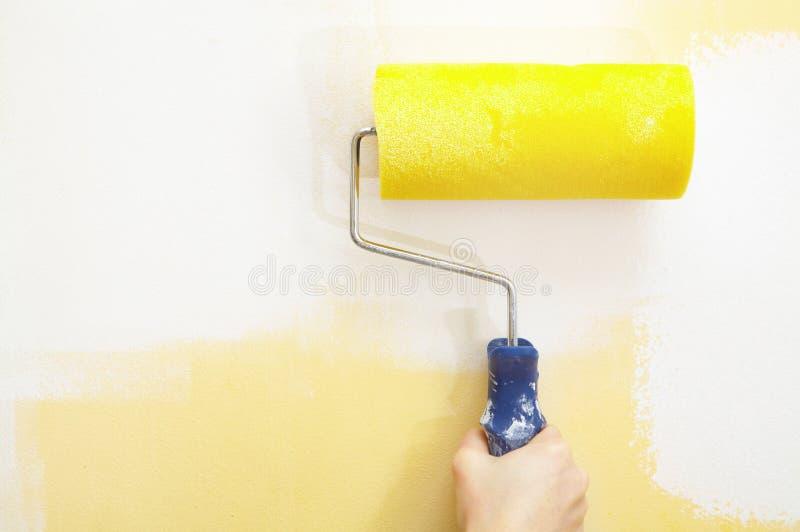 Rullo di vernice fotografie stock