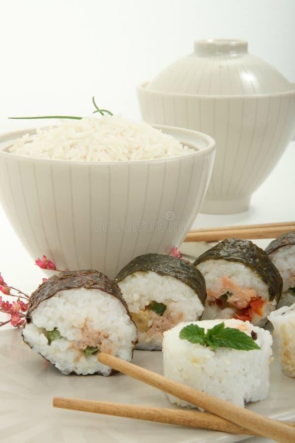 Rullo tradizionale dell'alimento del Giappone immagine stock libera da diritti
