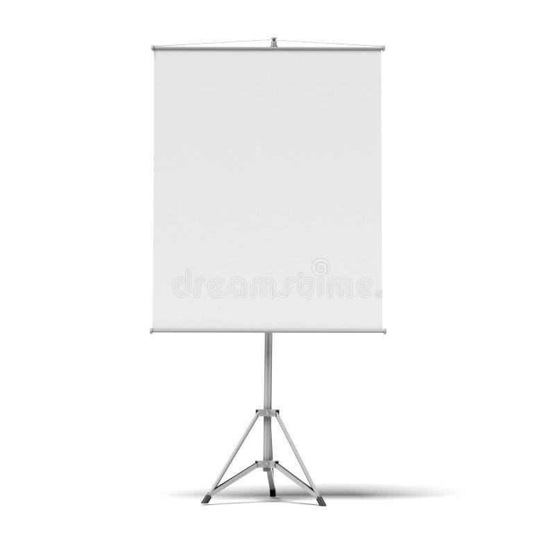 Rullskärm för tom presentation
