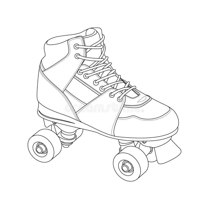 Rullskridsko vektor illustrationer