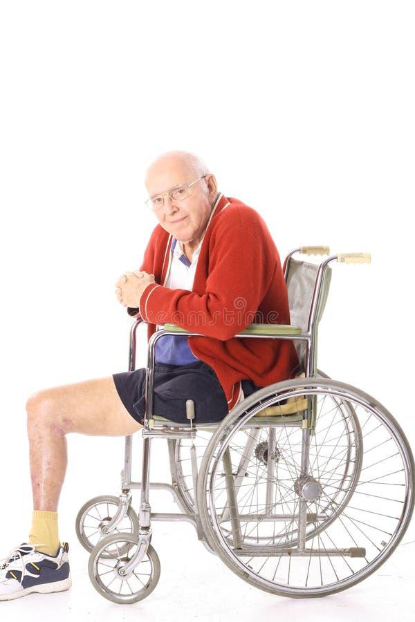 rullstol för åldringhandikappman fotografering för bildbyråer