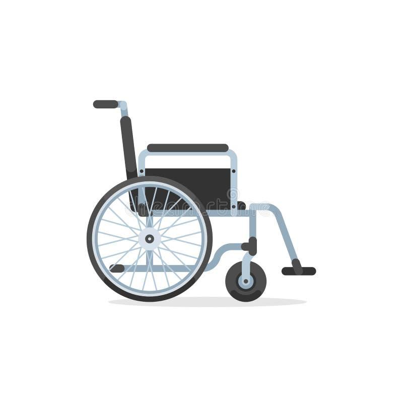 Rullstol för rörelsehindrad person stock illustrationer