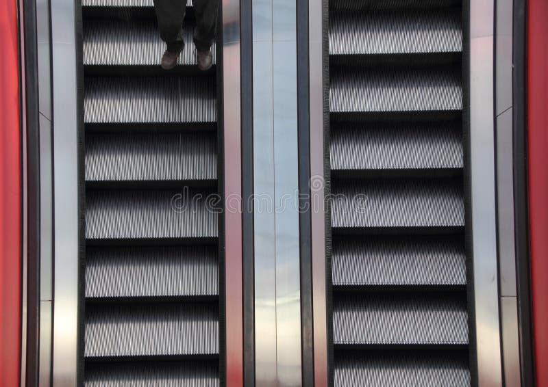 RulltrappatvåvägsCloseupdetalj med ben fotografering för bildbyråer
