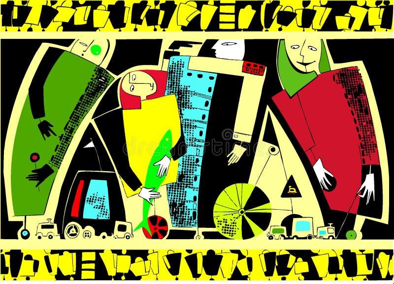 Ruls del camino stock de ilustración