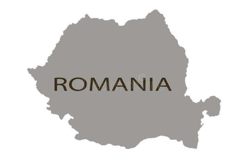 Rumänien översikt som är nära upp att markera inget klämma fast för stift stock illustrationer