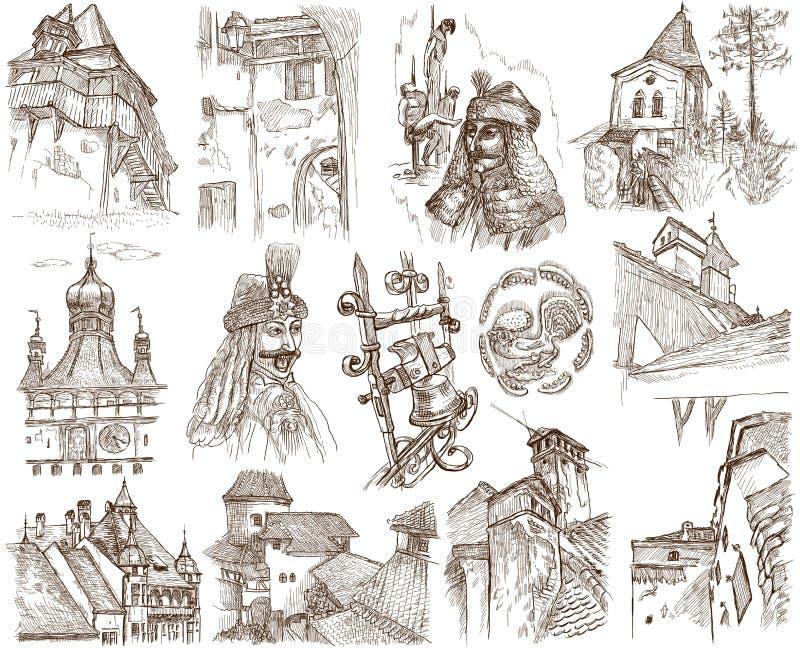 Rumänien royaltyfri illustrationer