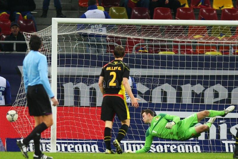 Download Rumänien Belgien redaktionelles stockfotografie. Bild von freundlich - 27725242